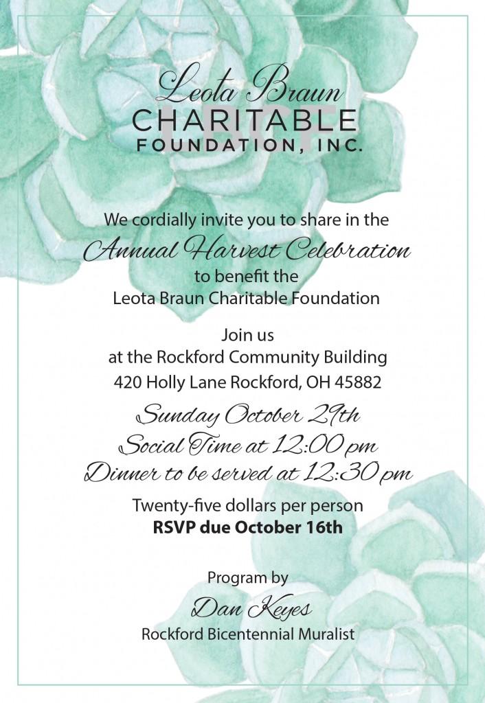 Leota Braun Charitable Foundation_2017 Invite_2